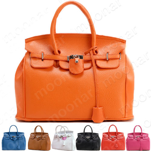 Celebrity-Girls-Faux-Leather-Handbag-Tote-Shoulder-Bags-Casual-Career-Purses