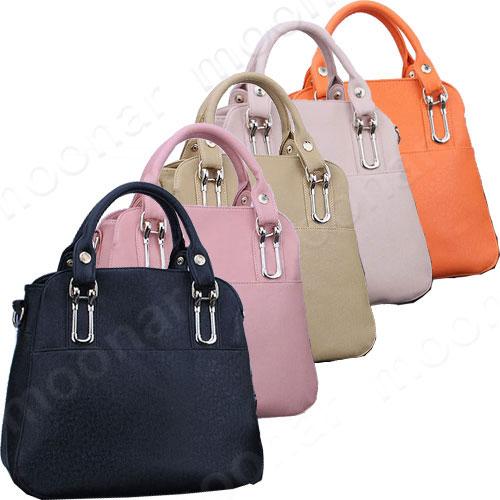 Lady-039-s-New-Retro-Satchel-PU-Leather-Tote-Handbag-Shoulder-Bag-Purses-Zip-Closure