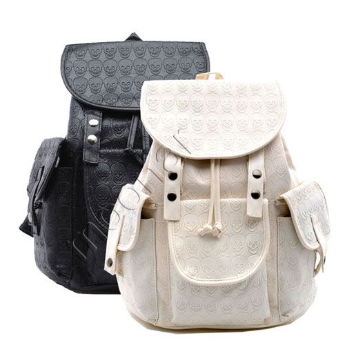 Womens-Punk-Skull-Backpack-Shoulder-SchoolBag-Travel-Bag-Book-Bags-Gym-Satchels