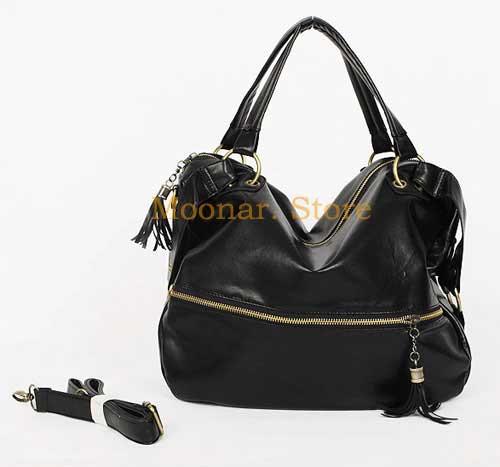 Fashion-DESIGNER-Satchel-HANDBAG-HOBO-PURSE-TOTE-BAG-Black-Brown