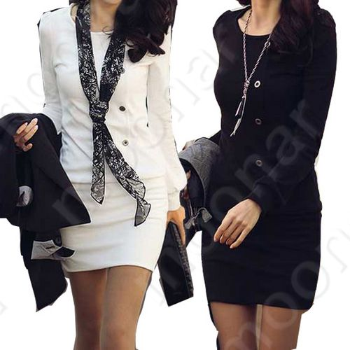 Fashion-New-Sexy-Korea-Women-Long-Sleeve-Casual-Mini-Dress