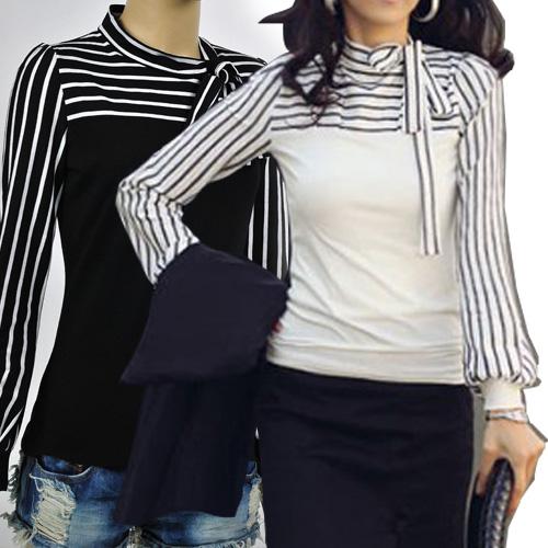 New-KOREA-Fashion-Womens-Long-Sleeve-tops-Blouses