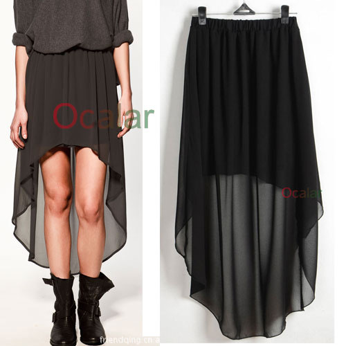 Zara Asymmetric Green Long Skirt 95