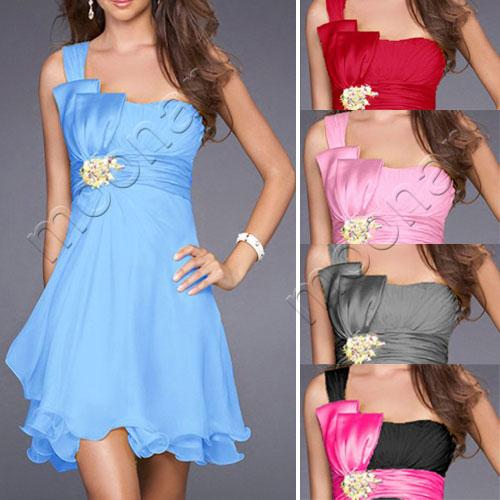 Women-039-s-High-Slim-Waist-MIni-Wedding-Cocktail-Evening-Party-Prom-Dress-8-Size