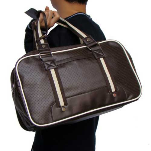 New-Men-Leather-Gym-Duffle-Carry-on-Shoulder-Bag-Pack-Sack