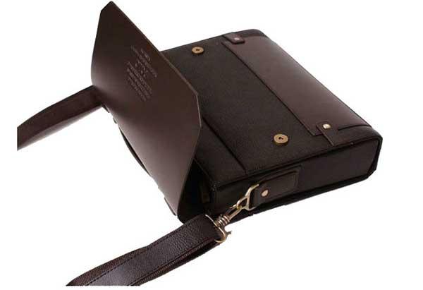 Authentic Moonar Men'S Leather Shoulder Messenger Briefcase Bag Bookbag 95