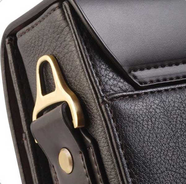 Authentic Moonar Men'S Leather Shoulder Messenger Briefcase Bag Bookbag 9