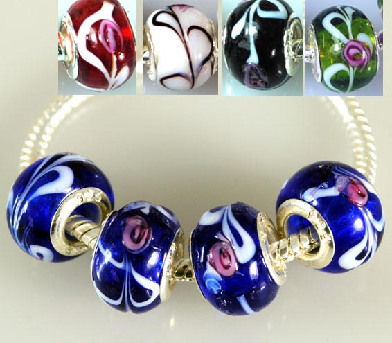 5-Color-5x-Sweet-Girls-European-Euro-DIY-Beads-Fit-Lampwork-Glass-Charm-Bracelet