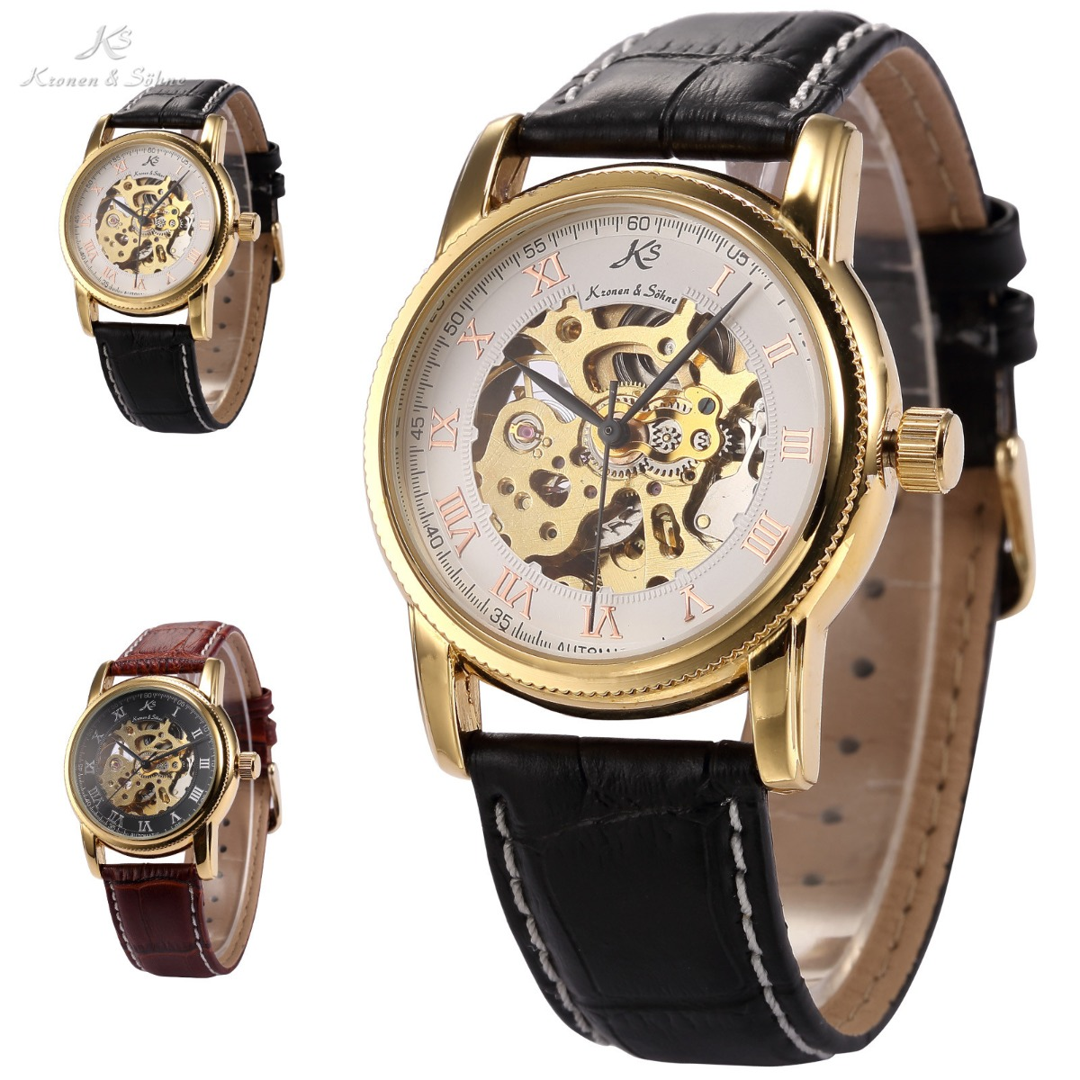 6-Styles-KS-Automatic-Mechanical-Skeleton-Dial-Men-Leather-Wrist-Sport-Watch