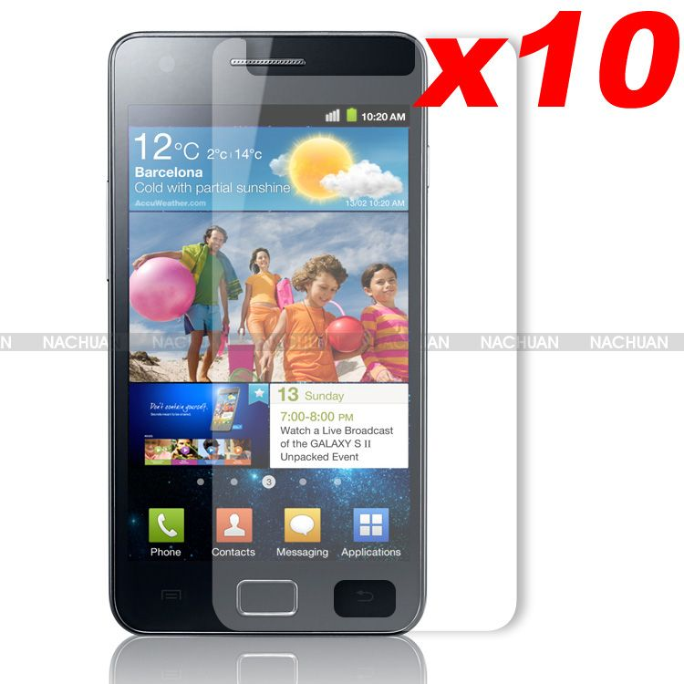 New-3-x-6-x-10-x-Clear-LCD-Screen-Protector-Cover-For-Samsung-i9100-Galaxy-S2-II