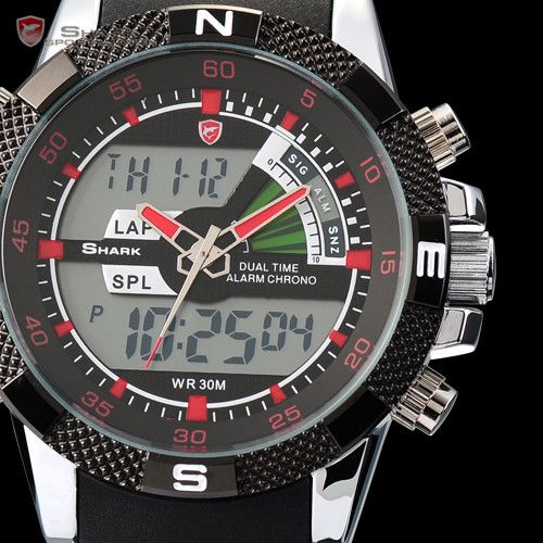 SHARK-LCD-Digital-Chronograph-Date-Day-Alarm-Quartz-Rubber-Men-Sport-Wrist-Watch