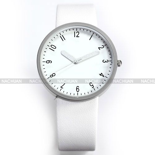Fashion Minimalist Lady Women Round Dial Bracelet Leather Quartz Wrist Watch
