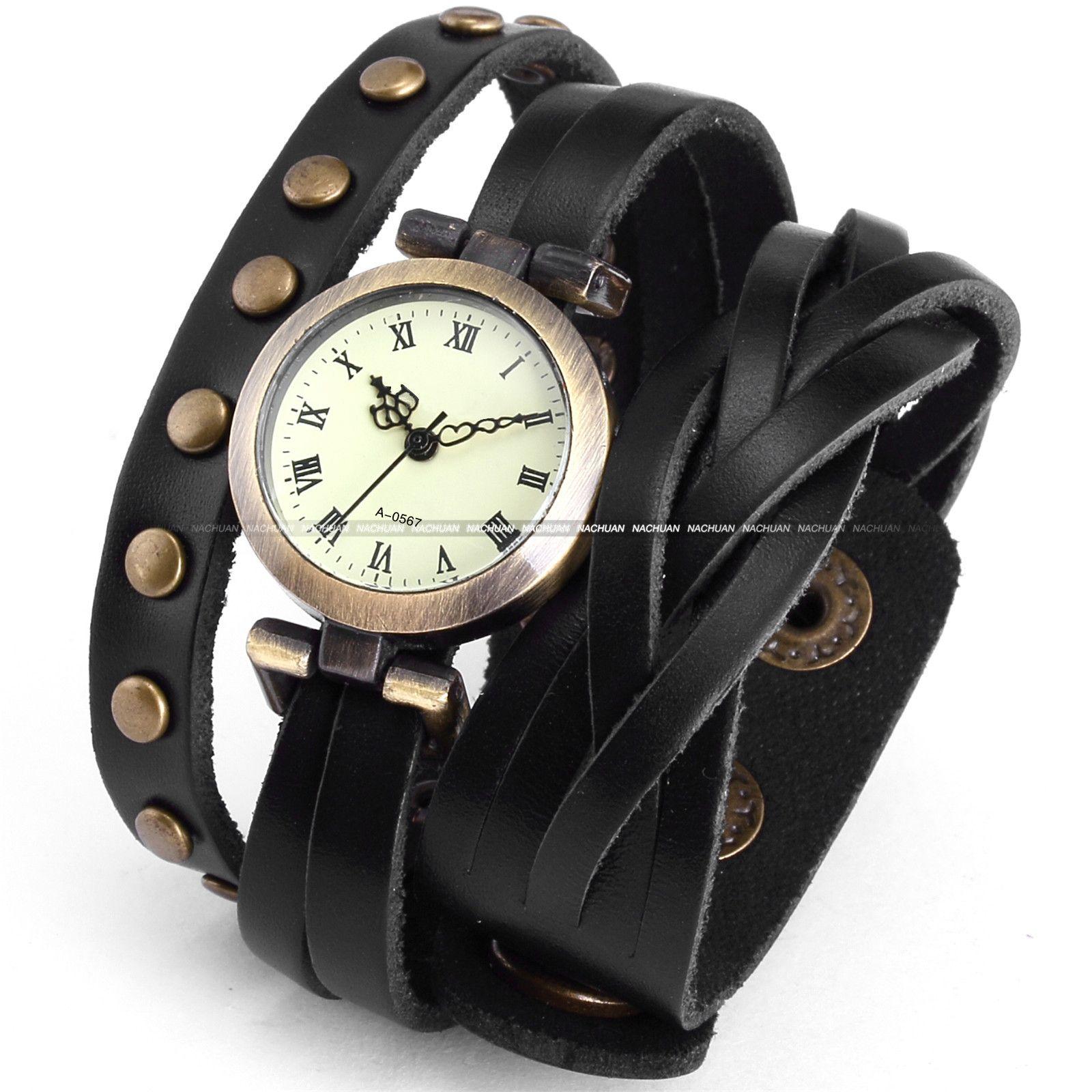 Fashion Lady Women Wrap Around Bracelet Analog Wrist Quartz Watch