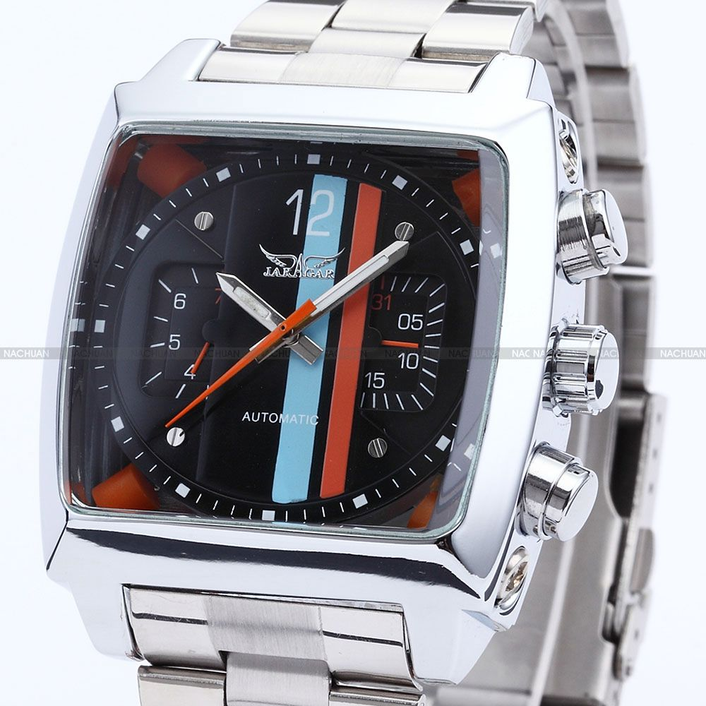 Stainless Steel Date Day Men Automatic Mechanical Watch With Upgrade Gift Box