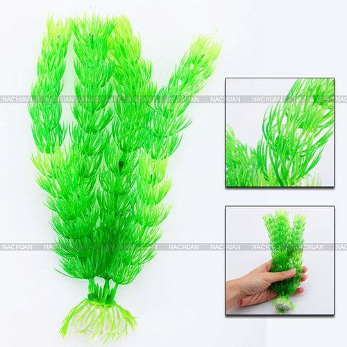 7-Inch-Green-Plastic-Plant-Ornament-Decoration-Artificial-Aquarium-Fish-Tank