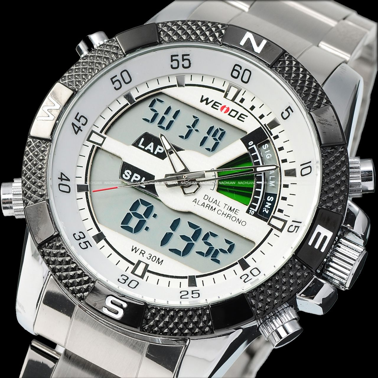 WEIDE-Dual-Time-Digital-Analog-LCD-Chronograph-Stainless-Mens-Sport-Quartz-Watch