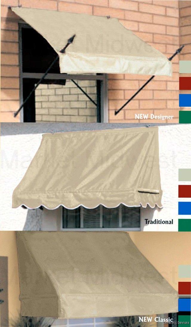 Diy Awnings For Window Amp Door 4 6 8 Fabric Awnings Ebay