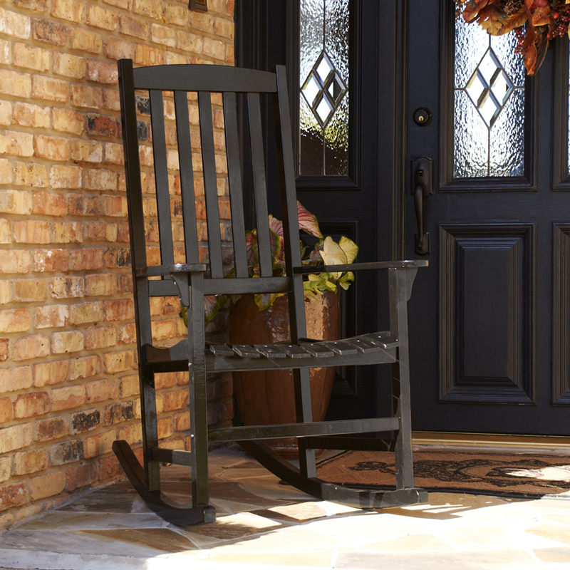 Patio Rocking Chair Rugged 100 Wood Outdoor Rocking Chair Three Colors