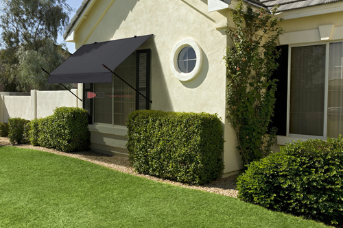 6 Designer Retractable Window Awning Black Awning