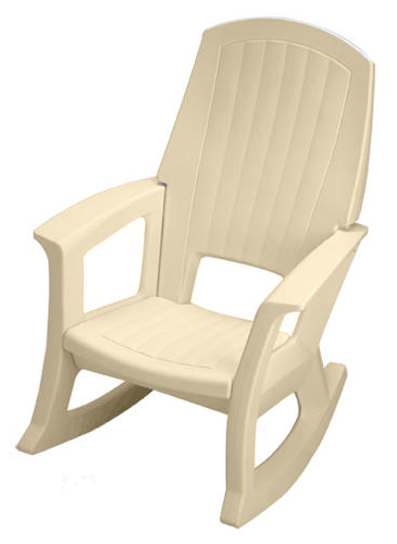 Patio Rocking Chair Comfortable Outdoor Plastic Rocker Available In 4 Colors Ebay