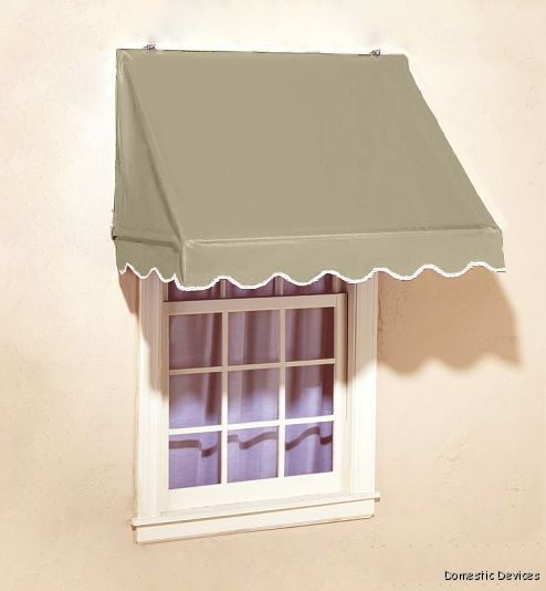 Window Awning Designer Style With Spear Supports Diy