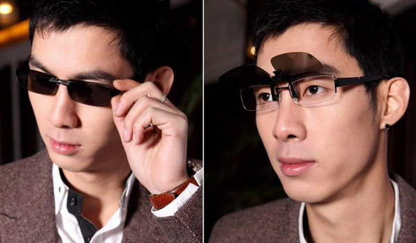Image result for images of  clip-on sunglasses