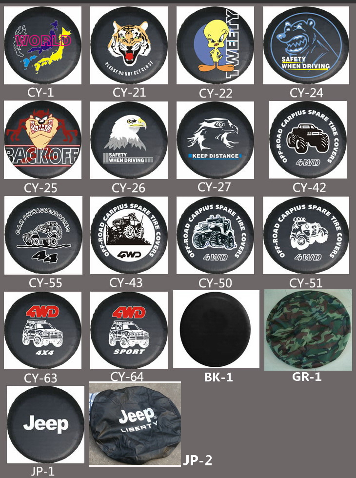 jeep wrangler liberty cherokee spare wheel tire tyre cover case soft. Cars Review. Best American Auto & Cars Review