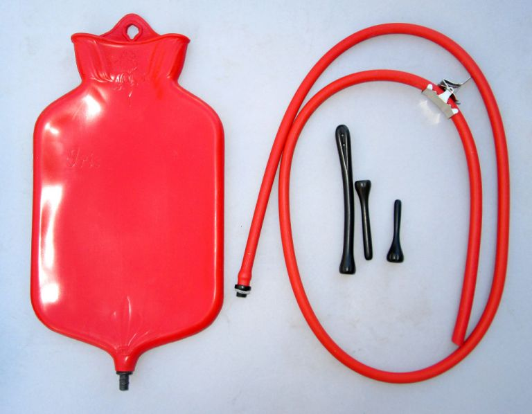 Latex enema bag