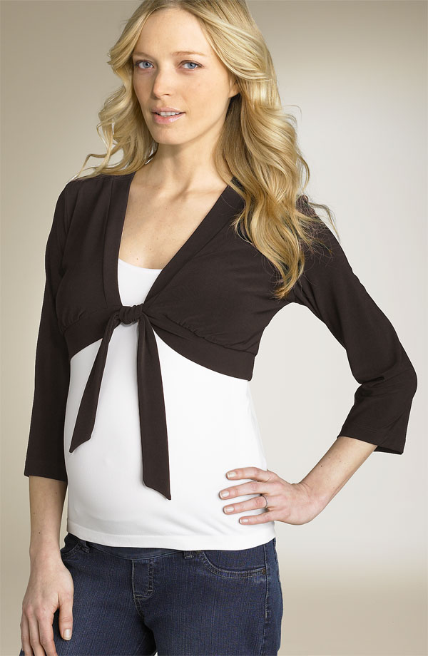 tie-front shrug with top and jeans