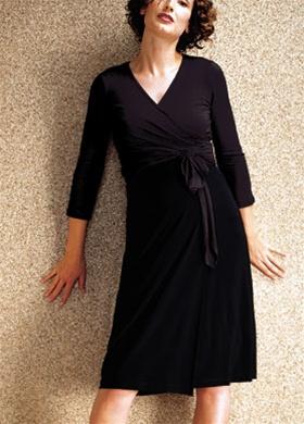Black Wrap Dress on New Japanese Weekend Maternity Little Black Wrap Dress   Ebay