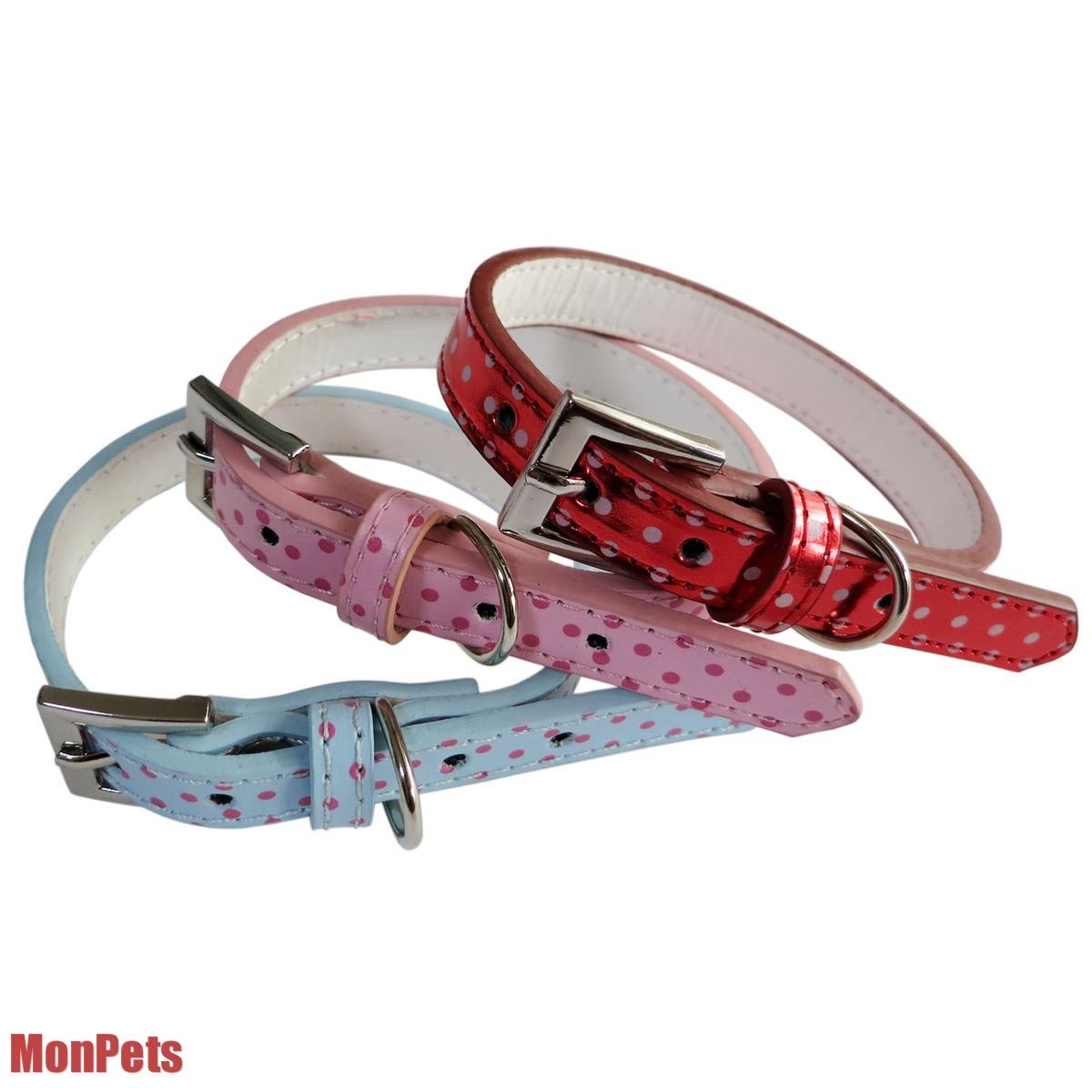 Small Dog Collar PU Leather Polka Dots Cat Dog Collars Pet Supplies Pet Gift Hot