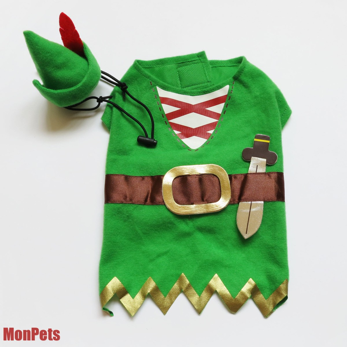 Cute Pet Dog Robin Hood Costume Halloween Outfit Dog Clothes Pet Apparel XS M L