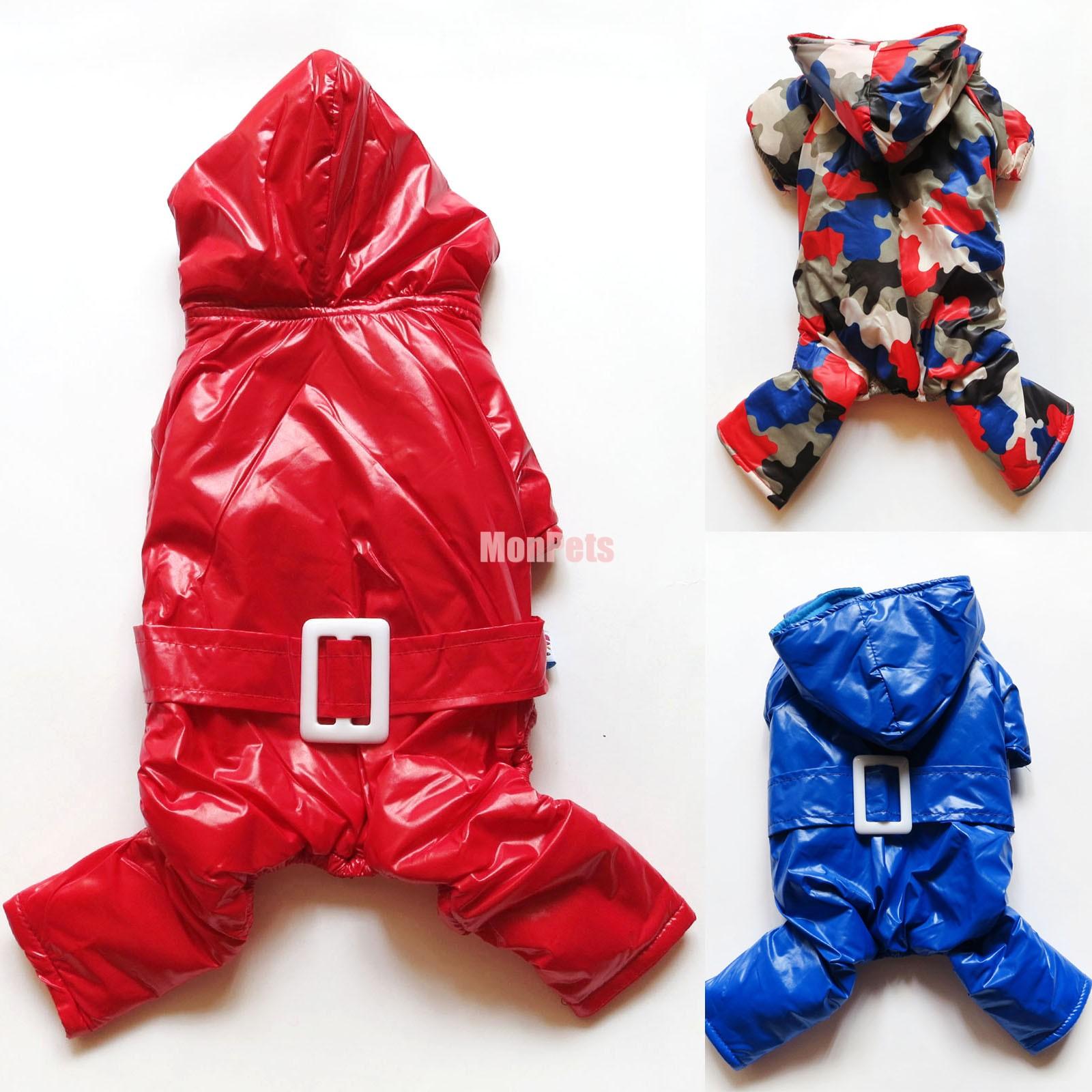 Blue red camo dog pajamas snowsuits overalls pet apparel dog clothes