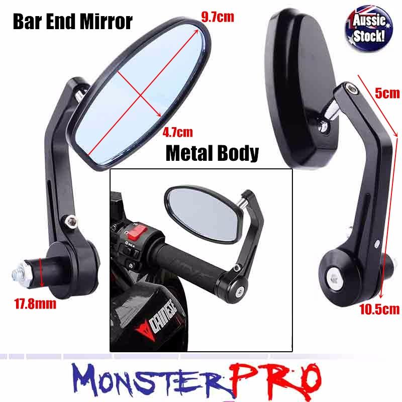 Bar end mirrors kawasaki zrx 1100 1200 z750 z1000 versys for Mirror 750 x 1200