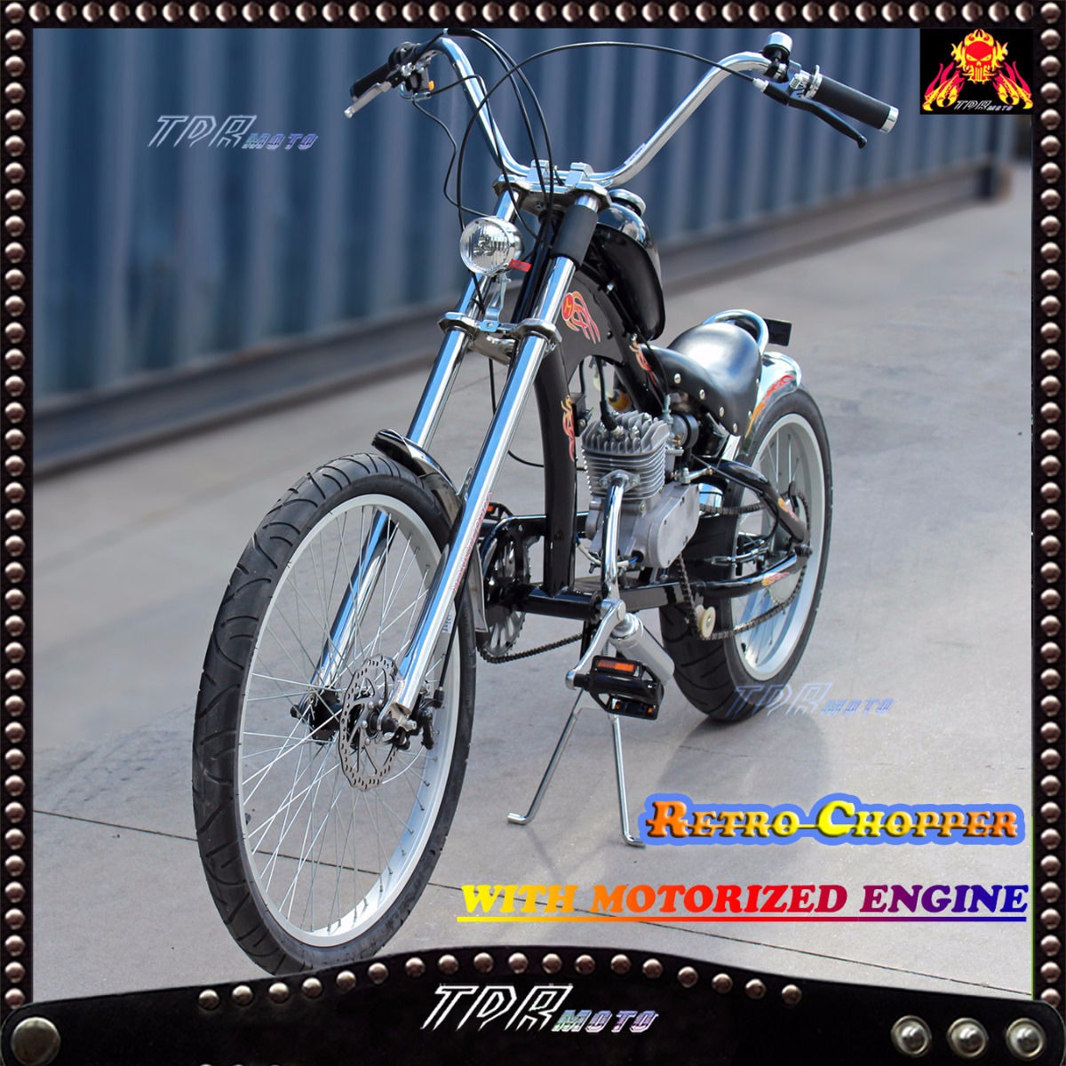 Electric Motor Kits For Push Bikes: Black RARE Retro Vintage CHOPPER Lowrider Dragster Bicycle
