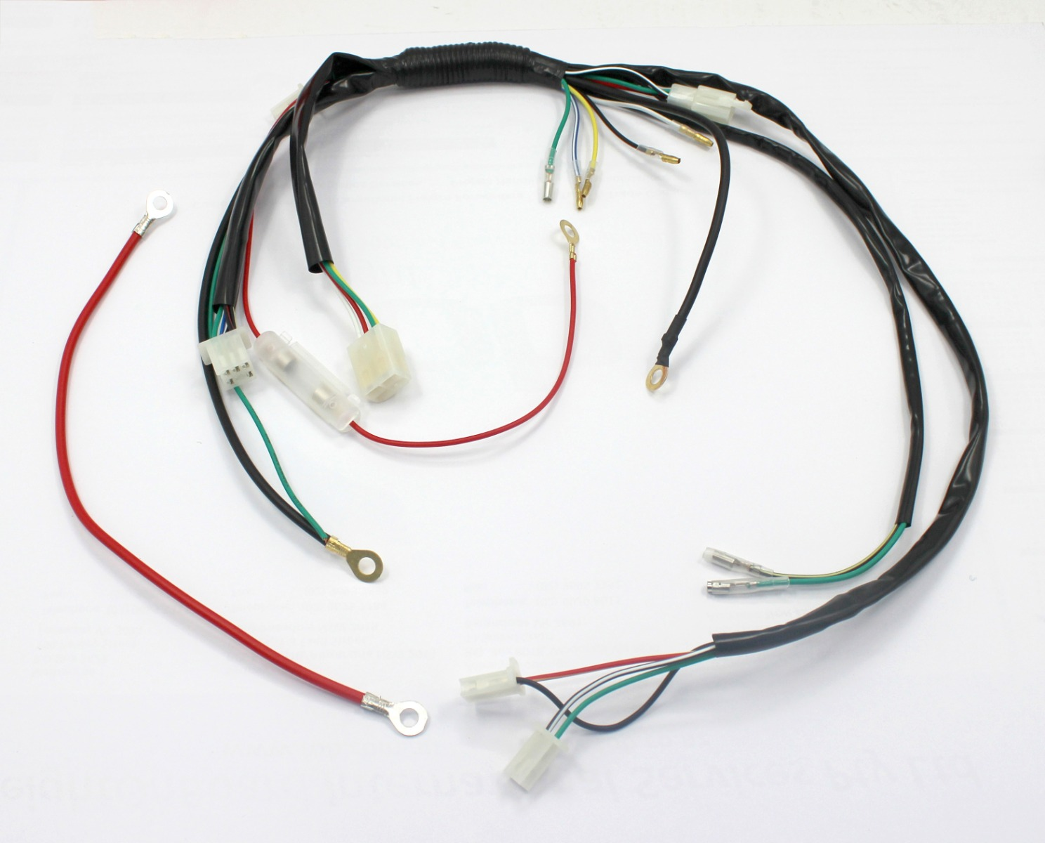pit dirt bike wiring loom harness for electric start 50cc 90cc listing only for wiring harness loom set