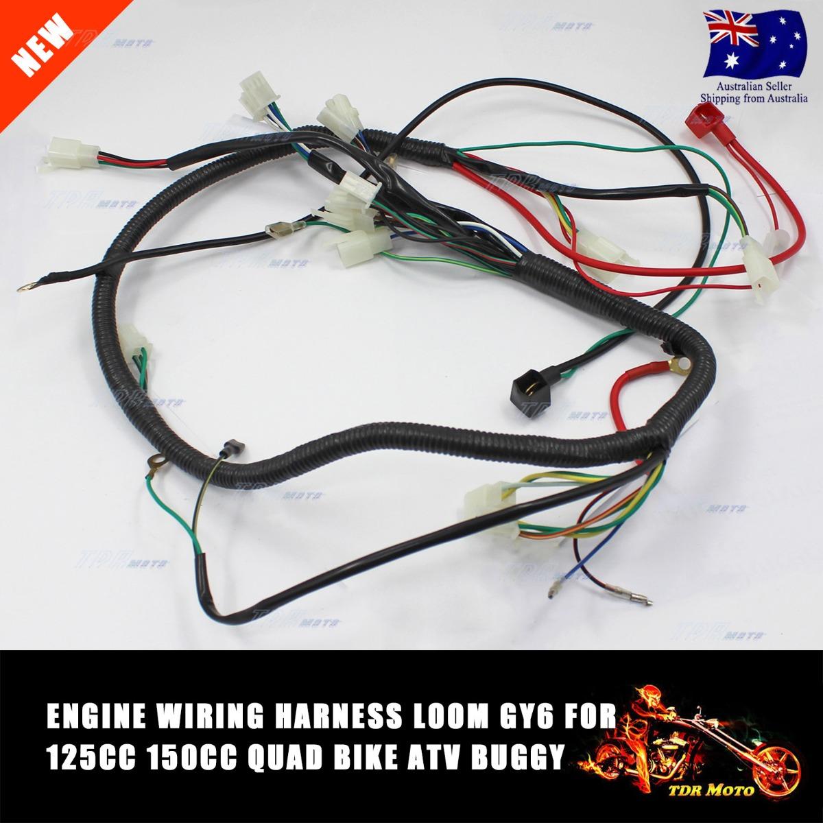 Boxer Go Kart Wiring Harness Diagrams Electrical Diagram 250cc Dune Buggy Wire Loom 150cc 200cc 300cc Atv Quad Gy6