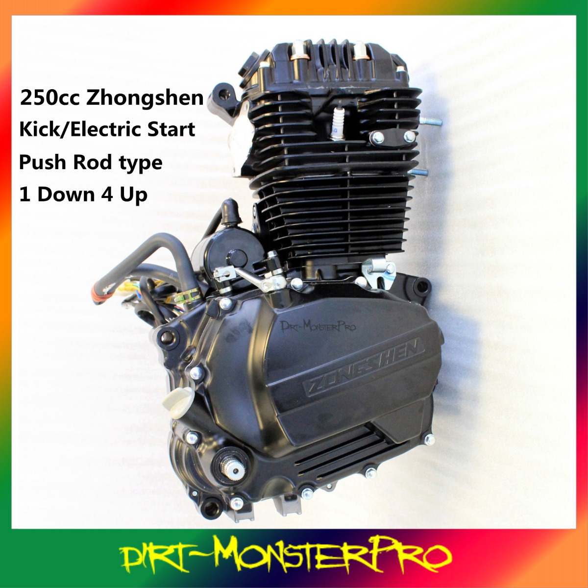 zhongshen 250 cc ohc engine carby wiring harness thumpster atomik zhongshen 250 cc ohc engine carby wiring harness thumpster atomik pit dirtbike