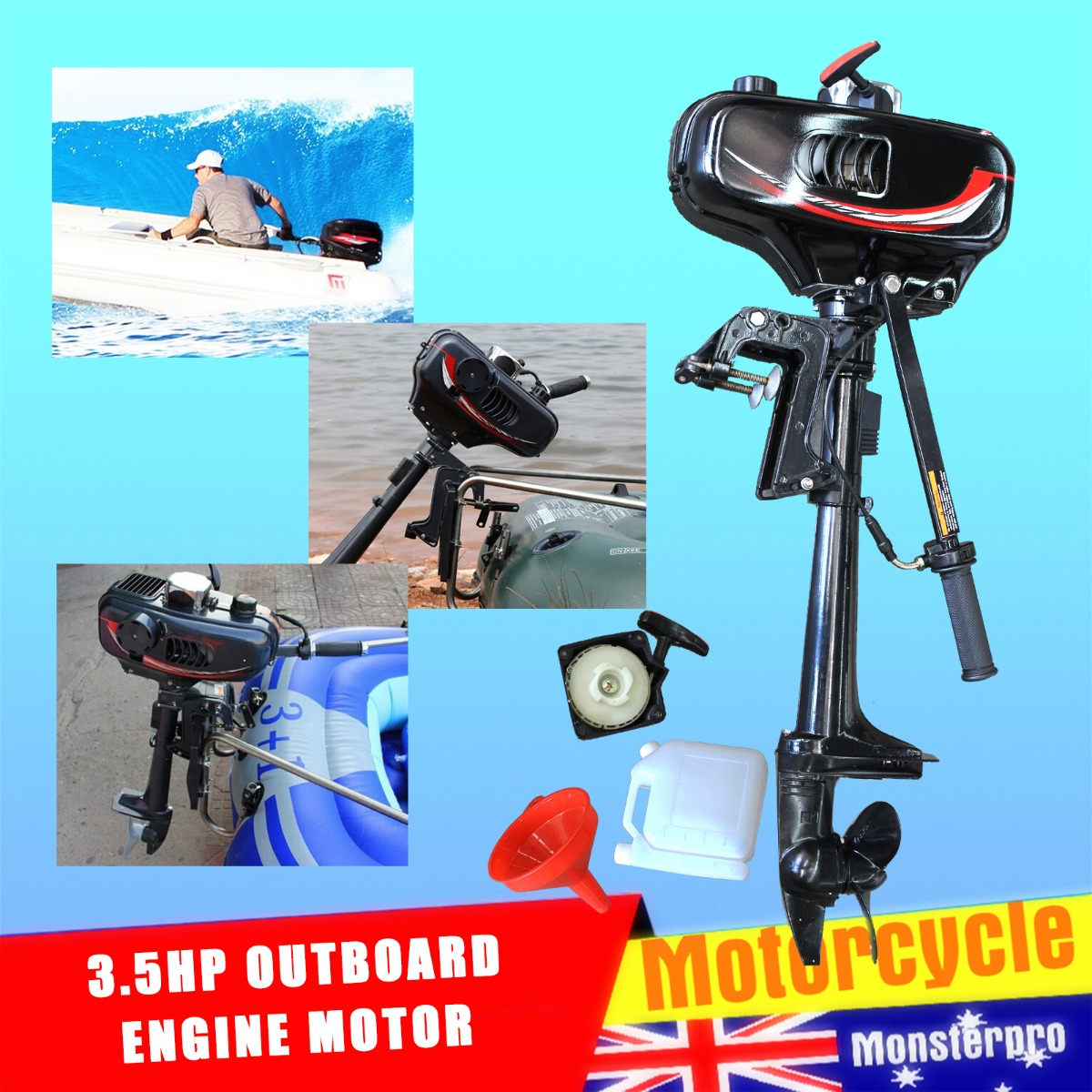 Portable Outboard Motor Boat Engine 3 5hp 2 Stroke With