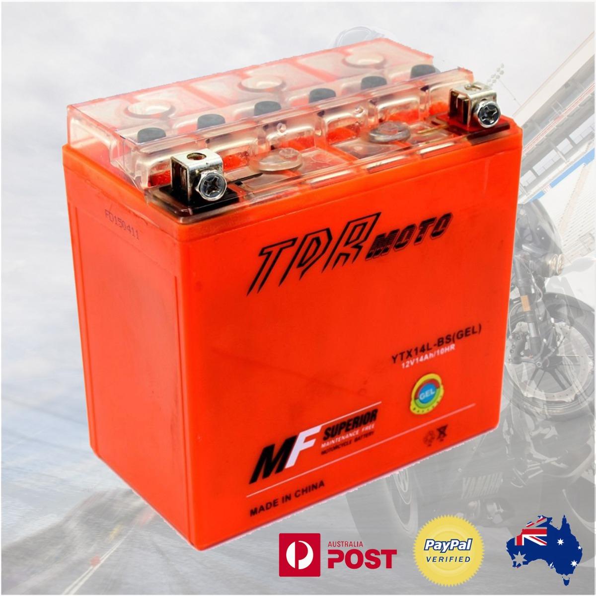 ytx14l bs motorcycle battery harley davidson 12v gel agm 500 750 883 1200 cc ebay. Black Bedroom Furniture Sets. Home Design Ideas