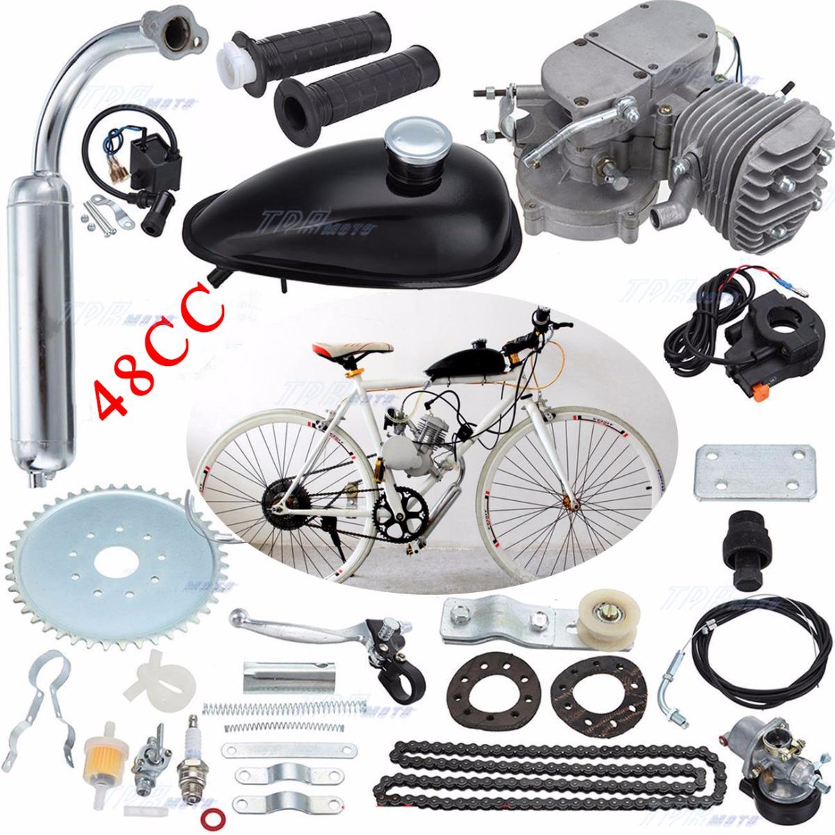 Electric Motor Kits For Push Bikes: 49cc 2 Stroke Engine Motor Kit For Motorised Push Bike