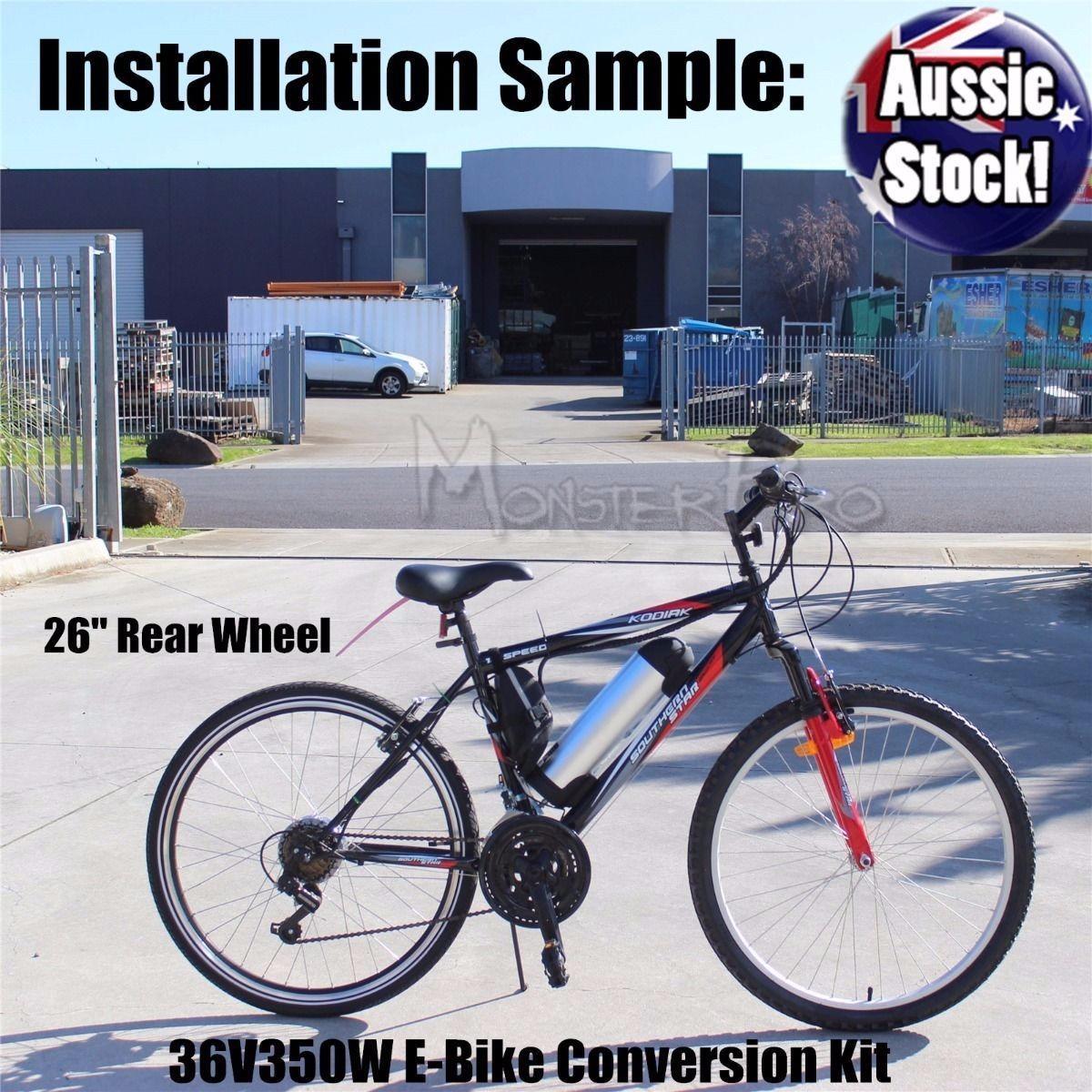 36v electric bicycle bike ebike rear wheel conversion for Rear wheel electric bicycle motor kit