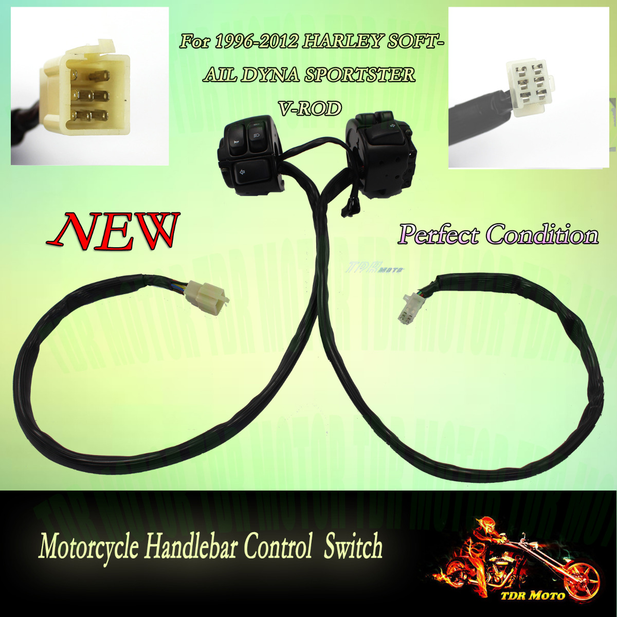 TM110 TDRb_0001 handlebar wire harness for harley signal light switchs 2002 2003 harley handlebar wiring harness at fashall.co