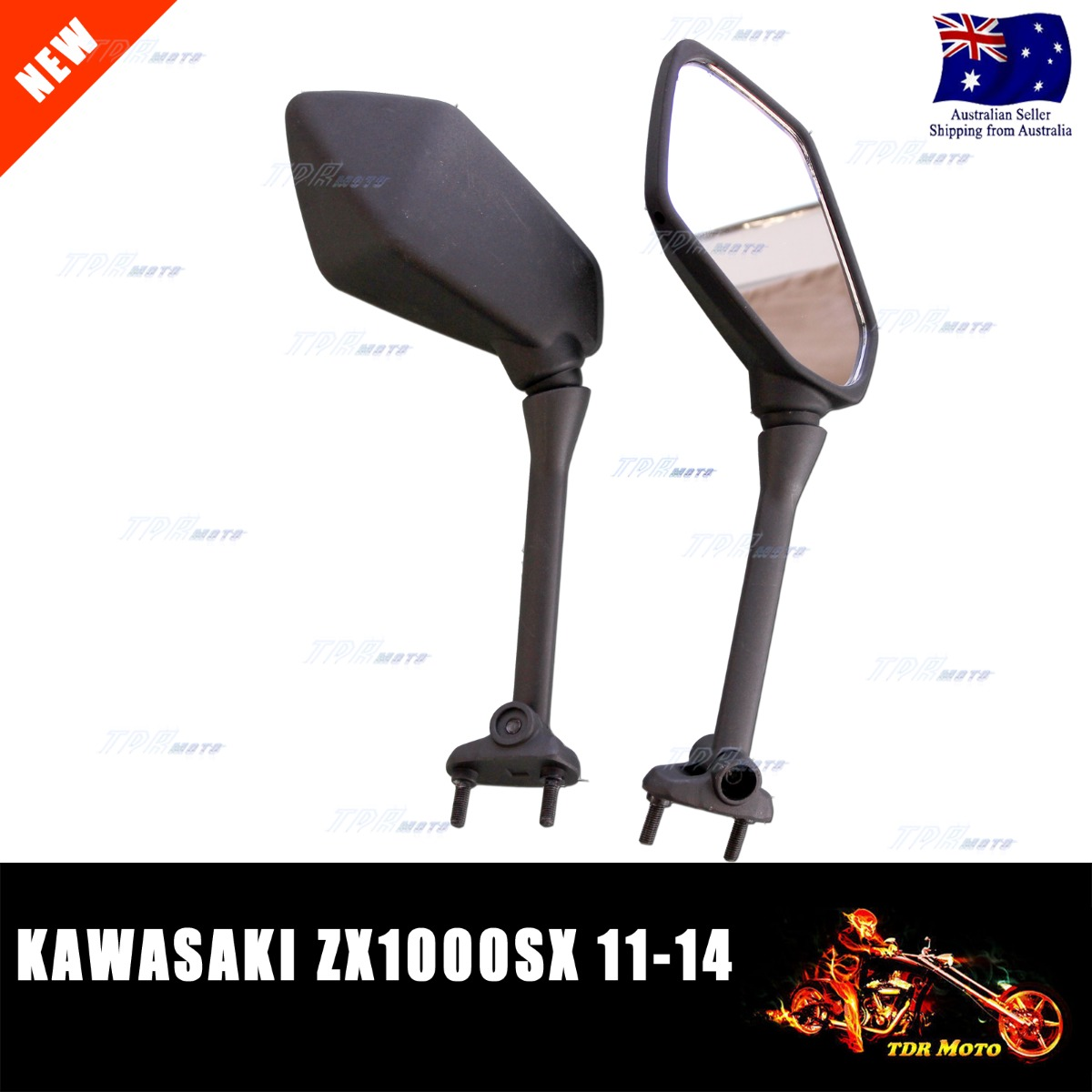 Oem Style Side Rear View Mirrors For Kawasaki Ninja 650r