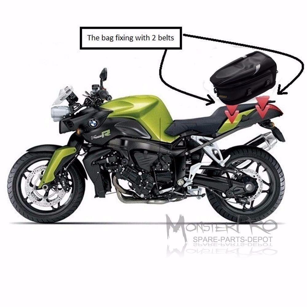Saddle Tail Bag Motorcycle Road Street Bike Luggage Honda Cbr 600