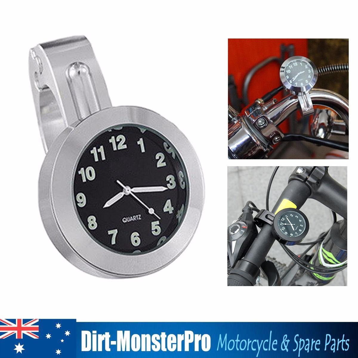 Chrome Handlebar Mount Clock For Kawasaki Vn Vulcan