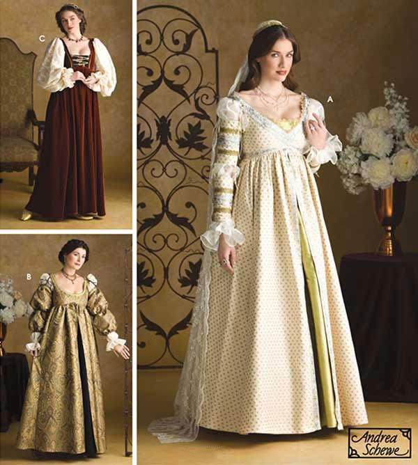 Renaissance Maiden Dress Costume Amp Wedding Gown Simplicity 3812 Sewing Pattern
