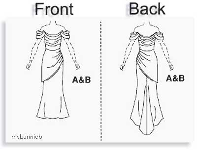 Vogue Sewing Pattern Evening Dress - MY WEDDING