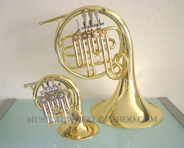Big French Horn in this picture IS NOT included in this auction  this    Piccolo French Horn Ebay
