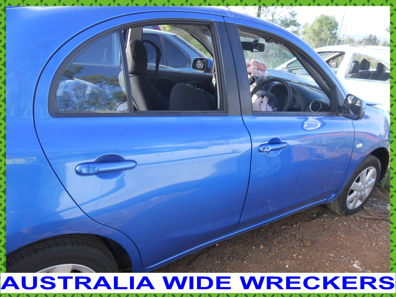 NISSAN-MICRA-K13-200-ON-R-H-FRONT-DOOR-GLASS-WRECKING-FOR-PARTS